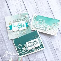 Stampin' Up! Delightfully Detailed Laser Cut Lace Paper Mini Cards