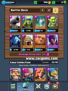 Clash Royale Tips: Use This Deck to Beat Arena 3 #buy clash royale gems on http://www.cocgems.com/ios-game/clash-royale-gems.html