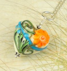 Statement Jewelry Lampwork Bead Heart by maidstonelanejewelry, $45.00