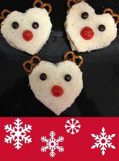 Reindeer Peanut Butter sandwiches