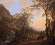 BOTH JAN (ОКОЛО 1615 - ОКОЛО 1652) Italianate Landscape w Travelers