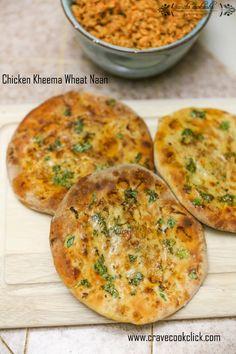 I love kheema.  Chicken Kheema Wheat Naan Recipe