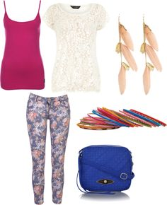 Back to school fashion trend - floral skinny jeans - What to wear with floral skinny jeans