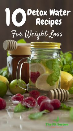 10 Delicious Detox Water Recipes for Weight Loss. Easy to make and you will enjoy these for a loooonnggg time. Enjoy, provechi! http://thefitsystem.com/10-detox-water-recipes-weight-loss/