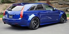 Cadillac CTS-V is one of the most aggressive vehicles on the market. It comes with brutal engine, stiffened suspension and big brake system. Cts V Wagon, Wagon Cars, Sports Wagon, Cadillac Cts V, Cars Usa, Porsche Boxster, Saint Jean, Sports Sedan, Rear Wheel Drive