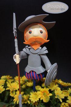 Don Quijote de la Mancha porcelana fría pasta francesa masa flexible fimo modelado gum paste sugar art