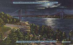 This postcard of the George Washington Bridge, aka the Great Gray Bridge, was mailed in November 1941, a few weeks before Pearl Harbor.