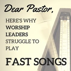 Why Worship Leaders Struggle to Play Fast Songs