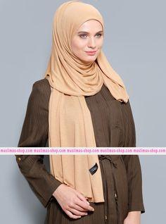 Abbigliameto Halal Islamico Negozio Online  #islamic #hijab #modest #fashion product  Combed Jersey Scarf - Camel - Rabia Z - Fabric Info:  100% Combed Cotton    Weight: 0.226 kg  Sizes:  Width: 75 cm  Height: 200 cm - SKU: 235209. Buy now at http://muslimas-shop.com/combed-jersey-scarf-camel-rabia-z235209.html