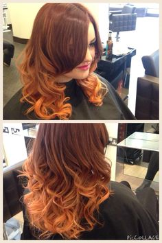 Bold copper ombré By shelbykinnear