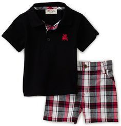 Carters Baby-Boys Infant Sphinx Accent Embroidery On Polo With Plaid Shorts Toddler Boy Fashion, Little Boy Fashion, Toddler Boy Outfits, Toddler Boys, Boys Summer Outfits, Little Boy Outfits, Summer Boy, Kids Outfits, Carters Baby Boys