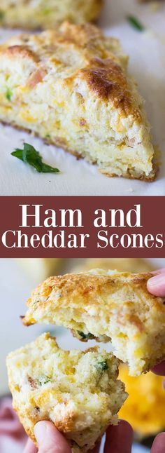 Savory Ham and Cheddar Scones that are easy to make and perfect for breakfast, snack time or with a steaming bowl of soup! Breakfast Casserole With Biscuits, Breakfast Scones, Breakfast Bread Recipes, Savory Breakfast, Breakfast Cookies, Breakfast Bake, Brunch Recipes, Breakfast Ideas, Southern Breakfast