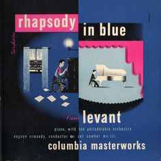1944 Gershwin - Rhapsody in Blue [Columbia Masterworks catalogue no. MX-251] signed Steinweiss