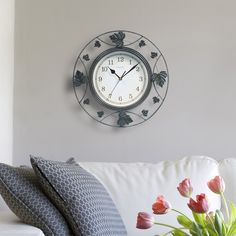 Chaney Falling Leaves Clock