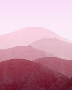 shades of pink mountain landscape view graphic Pink Mountains, Bild Tattoos, Art Graphique, Everything Pink, Pastel Decor, Color Stories, Colour Schemes, Pink Aesthetic, Textures Patterns