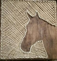 Horse String Art by StringyandArtsy on Etsy                                                                                                                                                     Mais