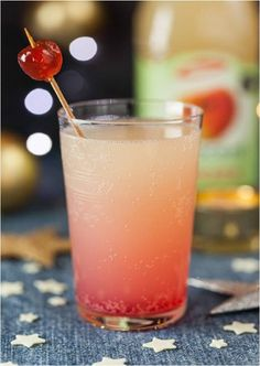 Pomegranate in a Pink Apple Tree Mocktail - perfect drink for Christmas!