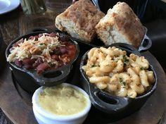 Southerleigh at the Pearl. The side dishes are the star of the show