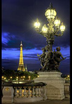 City of Light ( Tour Eiffel, Pont Alexandre III, Paris, France )