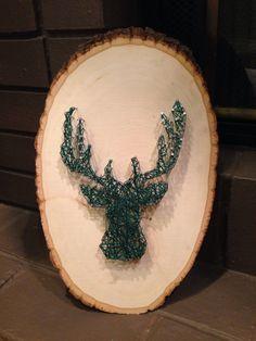 DIY deer head wood string art