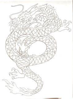 First solid template for my next tattoo.    ::Asian Dragon tattoo design by Nehemya.deviantart.com::