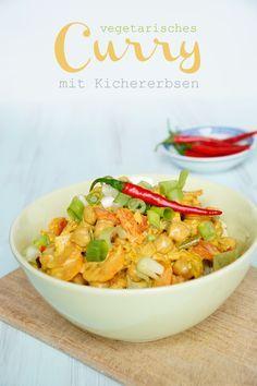 Rezept Curry mit Kichererbsen - vegetarisch und lecker! www.spoonandkey.blogspot.de