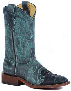 Turquiose Caiman Saddle Comfort Boot