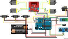 Programa un Coche Arduino que conduce sólo | Aprende Machine Learning Arduino, Motor Dc, Human Mind, Variables, Linear Function, Neurons, Artificial Intelligence, Ultrasound, Circuit