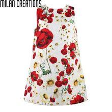 Milan Creaciones Niñas Vestido de Traje de Princesa 2016 Niños Vestidos para Niñas niños Ropa de la Marca Amapola Floral Niños del Vestido del Bebé(China (Mainland))