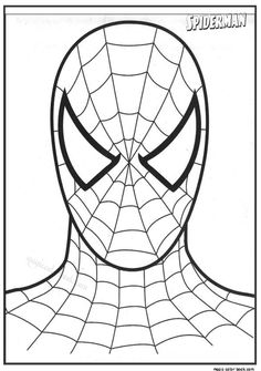 masque spiderman a colorier. Spider Man Party, Fête Spider Man, Free Coloring, Adult Coloring, Coloring Pages, Spiderman Birthday Cake, Spiderman Coloring, Mask Template