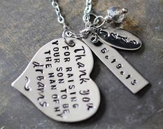 Gift For Mother In Law, New Mother in Law, Mothers Day, Mother in Law, Mother of the Groom Gift Necklace, In Law Gift