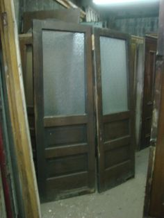 School Bathroom Door girls (and boys) - vintage solid oak school bathroom doors. great