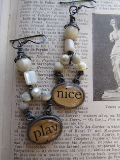 """Play Nice"".. how many times have we said that? ......... mother of pearl .... sterling....#vintage #handmade earrings..... #etsy"