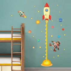 Cheap wall sticker music, Buy Quality wall sticker kid directly from China wall stickers sayings Suppliers: diy Outer space Planet Monkey Pilot Rocket home decal height measure wall sticker for kids room baby nursery growth chart Baby Decor, Kids Decor, Nursery Decor, Room Decor, Wall Stickers, Wall Decals, Wall Art, Home Rocket, Space Planets