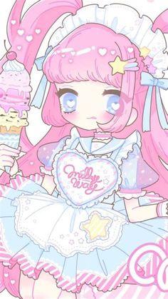 Cute Kawaii Girl, Kawaii Art, Kawaii Anime, Drawing Wallpaper, Kawaii Wallpaper, Lolis Anime, Anime Art, Kawaii Drawings, Cute Drawings