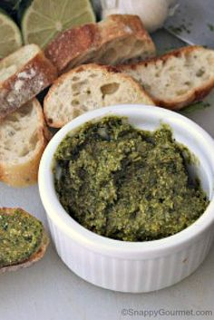 Spicy Cilantro-Marcona Almond Pesto Recipe — Dishmaps