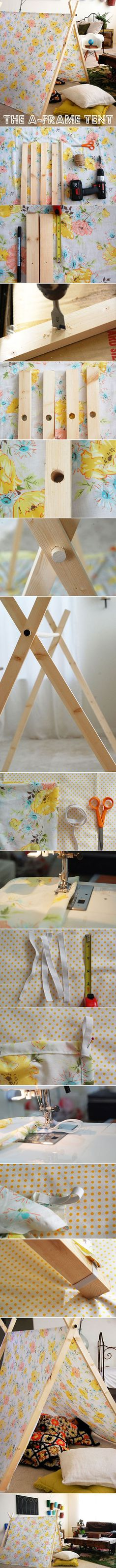 Diy A-frame Tent | DIY  Crafts Tutorials