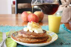 I made these pancakes tonight. They are my new favorite!!! Apple spice with whole wheat flour and flax meal. YUMMY.