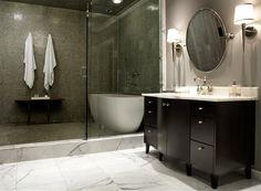 ideas for bathroom tub shower combo wet rooms Bathtub Shower Combo, Huge Shower, Bath Shower, Bath Tubs, Diy Bathtub, Spa Tub, Shower Floor, Diy Bathroom Remodel, Bath Remodel