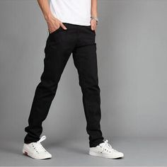 RUBU New Design Casual Men pants Cotton Slim Pant Straight Trousers Fashion Business Solid Khaki Black Pants Men Slim Fit Dress Pants, Slim Fit Trousers, Fashion Joggers, Trousers Fashion, Fashion Business, Pants For Women, Men Pants, Straight Trousers, Mens Joggers