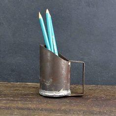 Vintage Primitive scoop, Handmade Tin Scoop, Grain Scoop, Farmhouse Decor, FREE SHIPPING