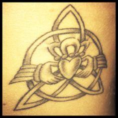 Claddagh/Celtic Knot design Rib Tattoo