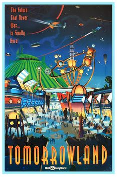 Vintage Disney World Tomorrowland Poster
