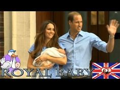 George Alexander Louis Royal Baby First public appearance - William & Ka...