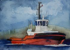 Watercolor, Painting, Rostock, Baltic Sea, Learning People, Miniature, Pen And Wash, Watercolor Painting, Painting Art