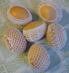 Jak obháčkovat vajíčka   .