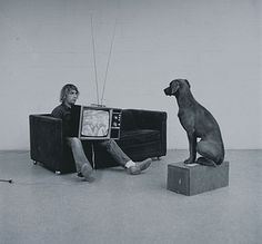 :: William WEGMAN Self-Portrait, ca. 1980, After his dog Man Ray died in 1981, Wegman didn't photograph  for years out of grief of losing his best friend.
