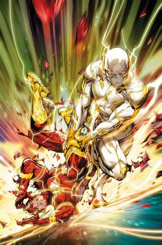 Flash The Flash battles Godspeed as Flash Age continues! In this issue, Paradox enlists Godspeed in his mission to erase the Flash legacy from e Flash Comics, Arte Dc Comics, Marvel Comics, Comic Books Art, Comic Art, Univers Dc, Dc Comics Characters, Comics Universe, Detective Comics