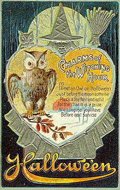 Silver Witch and Owl -- Charms of the Witching Hour