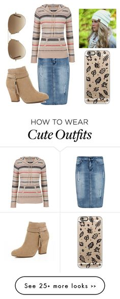 """""""Untitled #2"""" by hannah-vangiller on Polyvore featuring moda, Boohoo, maurices, River Island, Casetify e Ray-Ban"""